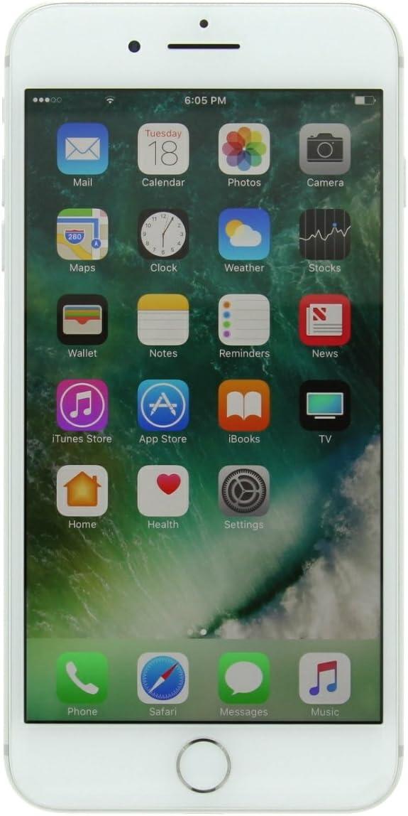 Apple iPhone 7 Plus, 128GB, Silver - Fully Unlocked (Renewed)
