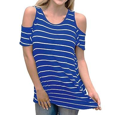 94fe56e79bcf7 CICIYONER Camiseta Hombro Descubierto Camisas Mujer Originales Manga Corta   Amazon.es  Ropa y accesorios