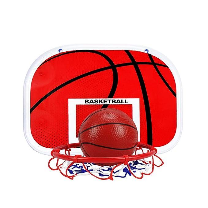 TOYANDONA Canasta Baloncesto Infantil Altura Ajustable para Ni/ños Juguetes Actividades para Ni/ños y J/óvenes Interior Exterior 150 cm Rojo
