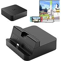 Gulikit Switch TV Dock, soporte de carga portátil con interruptor delgado, interruptor compacto a adaptador HDMI, estación de acoplamiento extraíble con puerto USB 3.0 extra, base de carga de repuesto para Nintendo Switch
