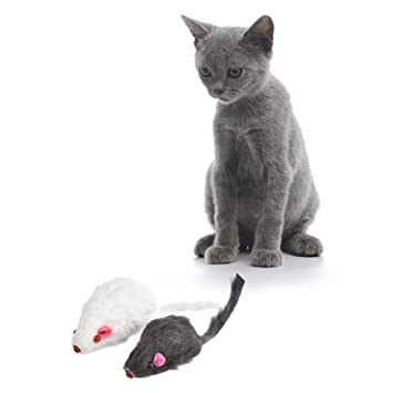 Haodene Juguete De Mini Ratón peluche juguete para gato Varios juguetes para gatitos Cat Juguetes interactivos