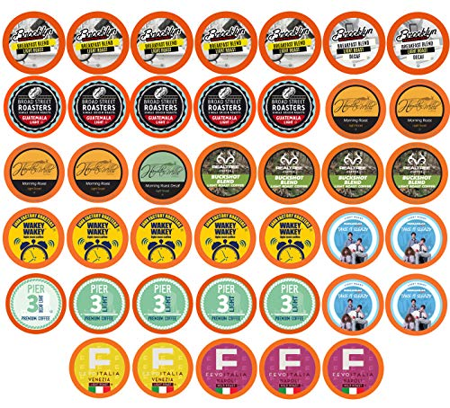 Two Rivers Light Roast Coffee Pods Variety Pack for Keurig K-Cup Makers, 40 Count
