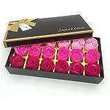 Floral Scented Bath Soap Rose Flower Petals,JIALEEY Plant Essential Oil Rose Soap Set Guest Soap shaped Petals Best…