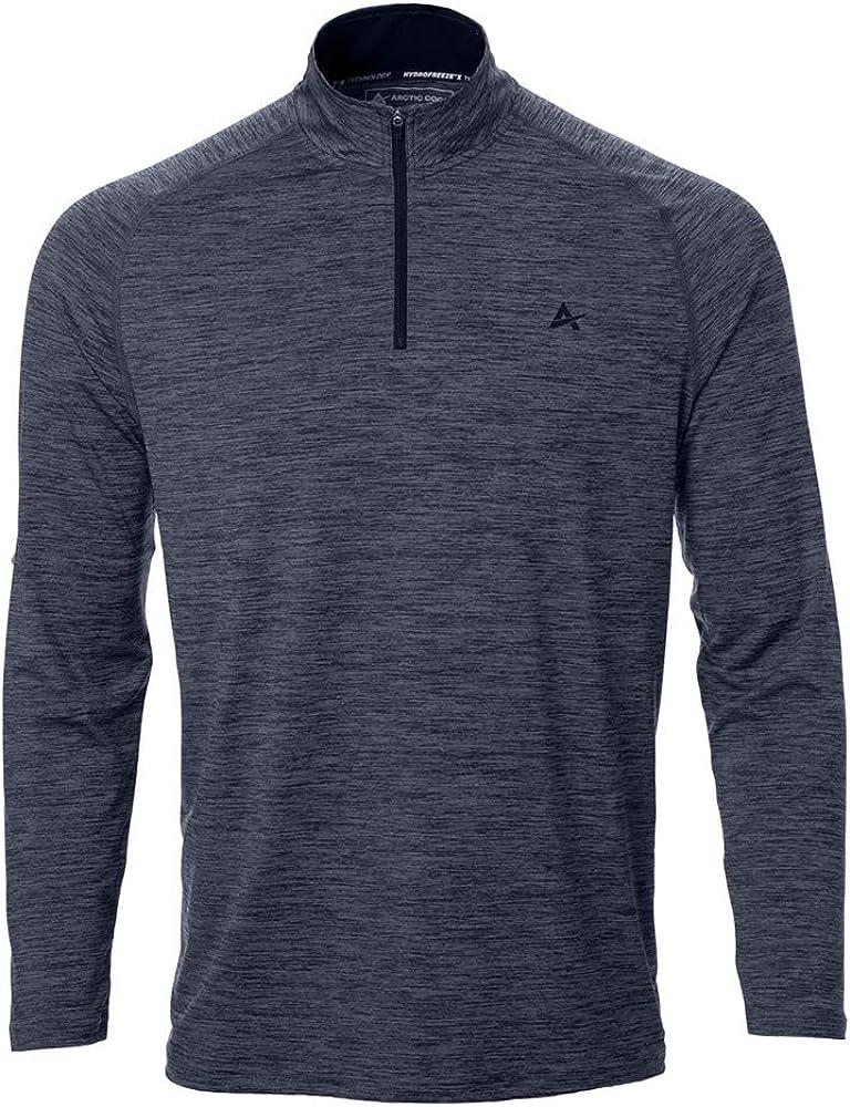 Arctic Cool Men's 1/4 Zip Instant Cooling Long Sleeve Shirt