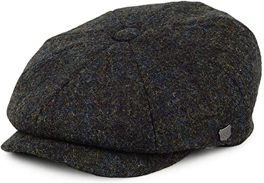 Failsworth Gorra Newsboy de Tweed Harris Verde Musgo-Azul - 63 ...