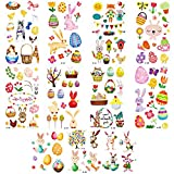 Koogel 141pcs Easter Tattoos, Easter Party Temporary Tattoos for Kids Bunny Egg Tattoos Easter Party Supplies Gifts