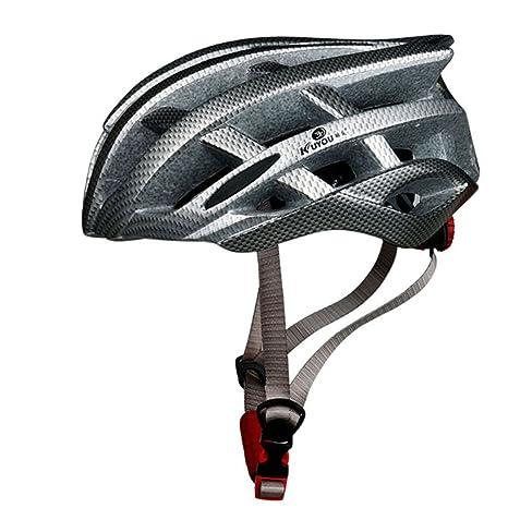 LOLIVEVE Bicicleta Casco Bicicleta Casco De Fibra De Carbono Bicicleta Casco De Seguridad Bicicleta De Montaña