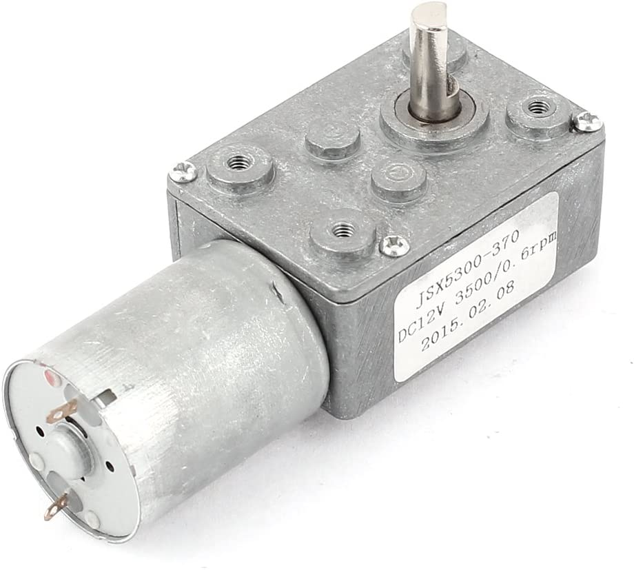 DC 12V 0.6RPM Reversible High Torque Turbo Worm Electric Geared Motor Reduction