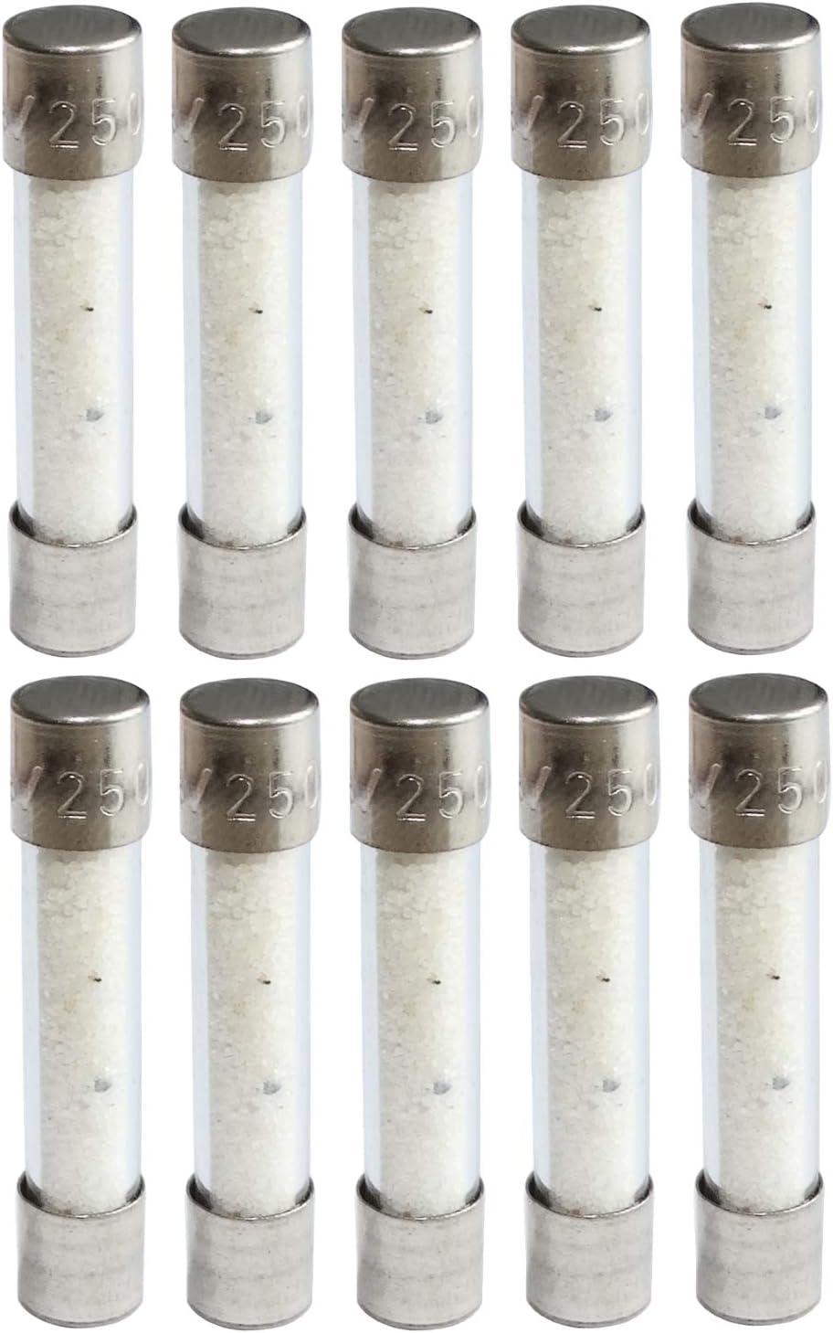 AERZETIX 10x fusible Lent retard/é temporis/é en Verre 3.2cm 12.5A 12500mA 250VAC 6.3x32mm C42326