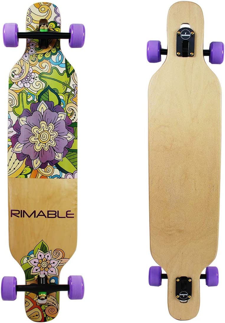 RIMABLE Canadian Maple Freeride Concave Deck Longboard Drop-Through,42Inch