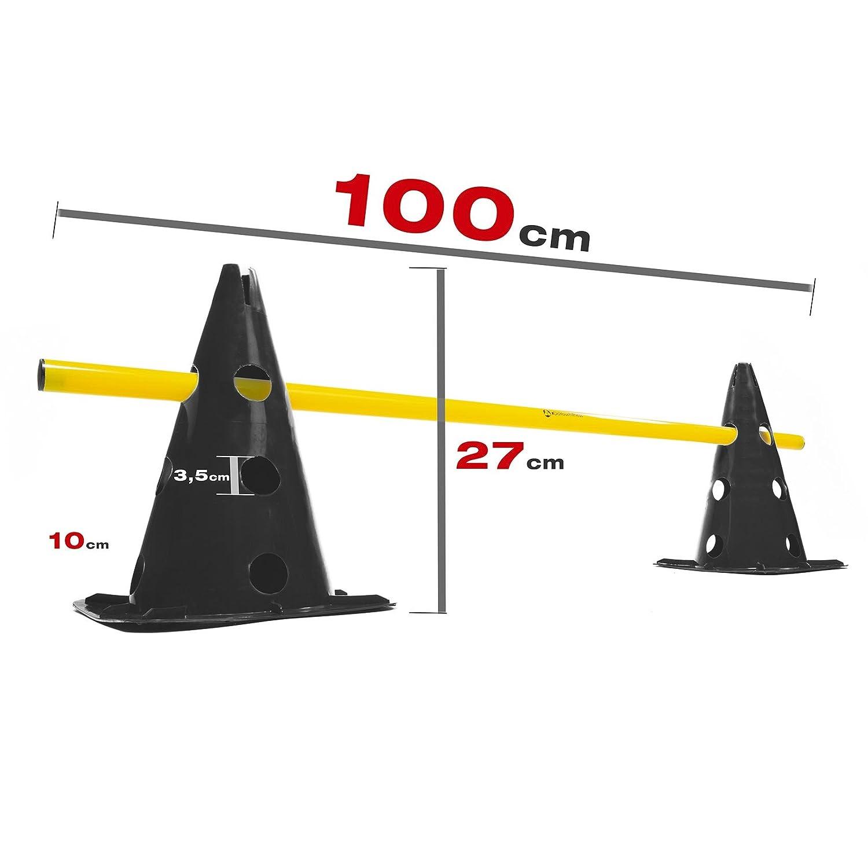Koordinationshürde für Agility Training//Hürdenlauf zur Steigerung der Motorik//Schnelligkeit #DoYourSports #DoYourFitness® Pylonen-Set//Trainingshürden in Verschiedenen Stückzahlen