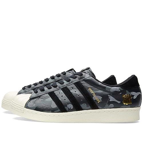 adidas Superstar - Zapatillas de Material Sintético para Hombre, Color Negro, Talla 40 2/3 EU: Amazon.es: Zapatos y complementos