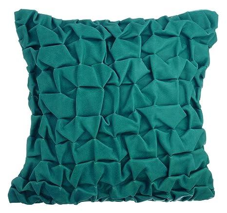 The HomeCentric Teal Blue Fundas para Cojines 35 x 35 cm ...