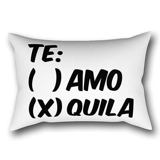 GYTOP Funda Cojín Tequila O Amor Te Amo O Quila Funda De ...
