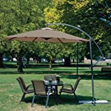 Coolaroo 10 Foot Round Cantilever Freestanding Patio Umbrella, Mocha
