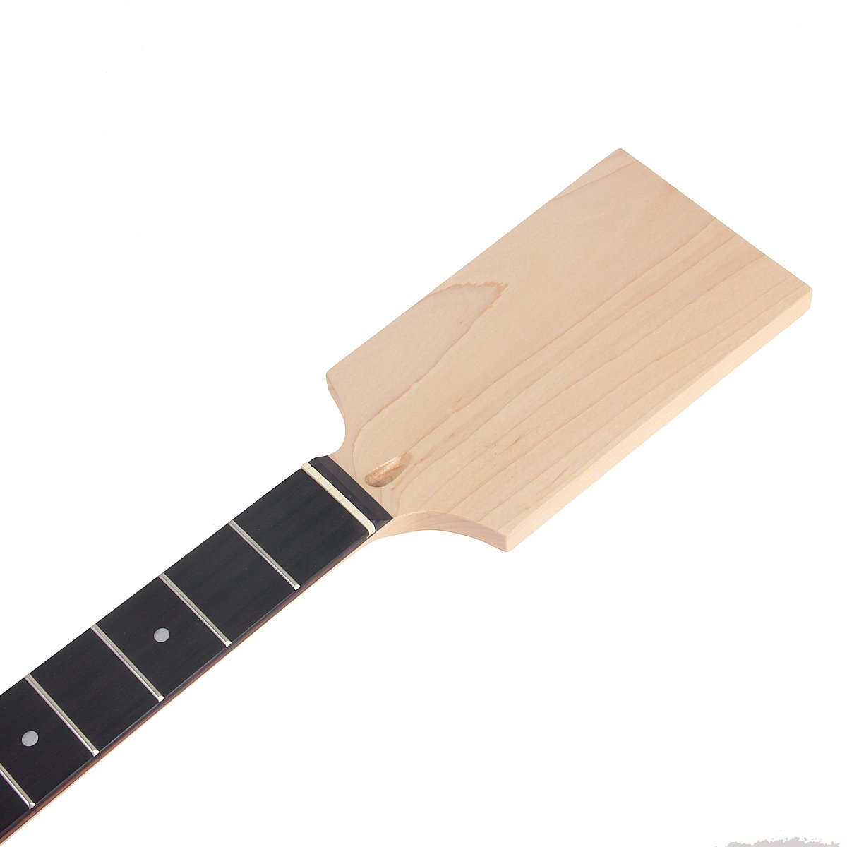 Kmise Unfinished Electric Guitar Neck Paddle Head DIY Parts Clear Satin Maple 22 Frets Fingerboard Bolt On for Music Lover Guitar Repair by Kmise (Image #2)