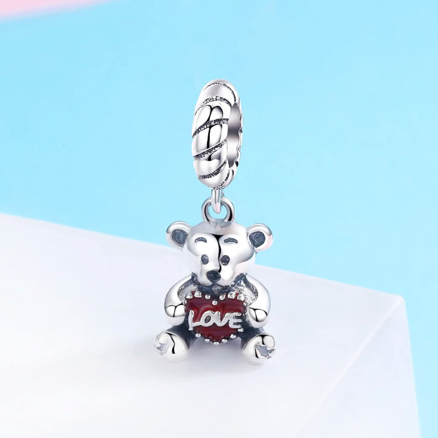 Little Girl Charm Pink Enamel CZ Dangle Charms Pearl Charm fit Charms Bracelet Necklaces Jewelry Birthday Gifts