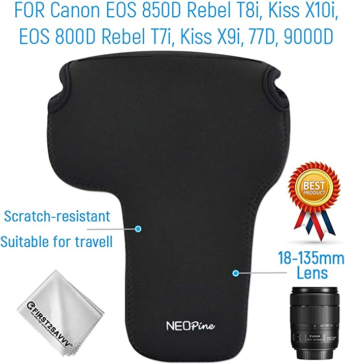 Flexible Neopren Dslr Slr Leicht Kameratasche Kompatibel Mit Canon Eos 850d 800d 18 135mm Lens Elektronik