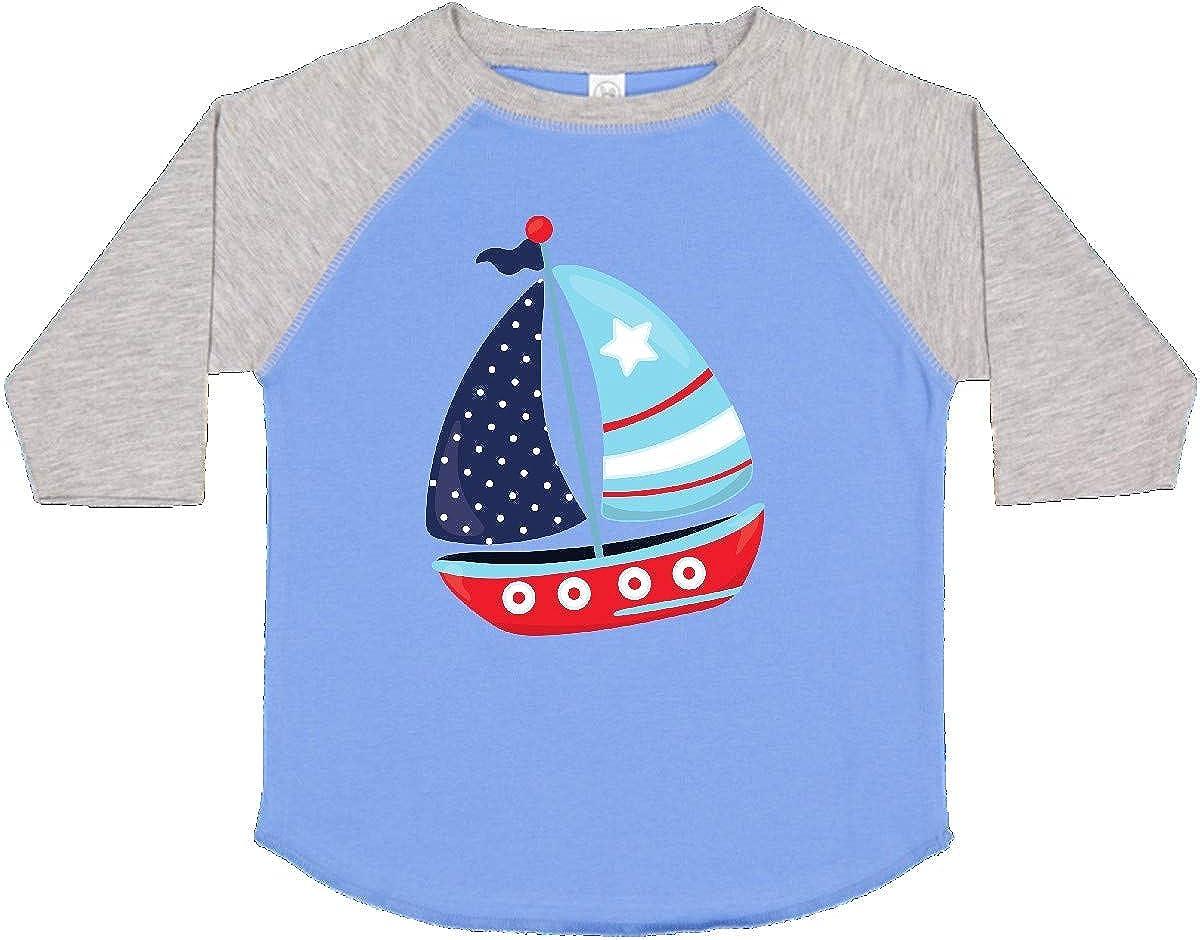 Sails inktastic Sailboat Red Blue White Toddler T-Shirt Sailing Boat