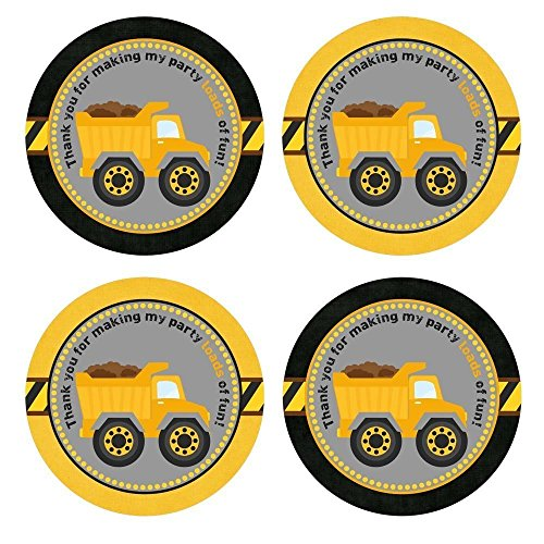 Construction Truck Thank Sticker Labels product image