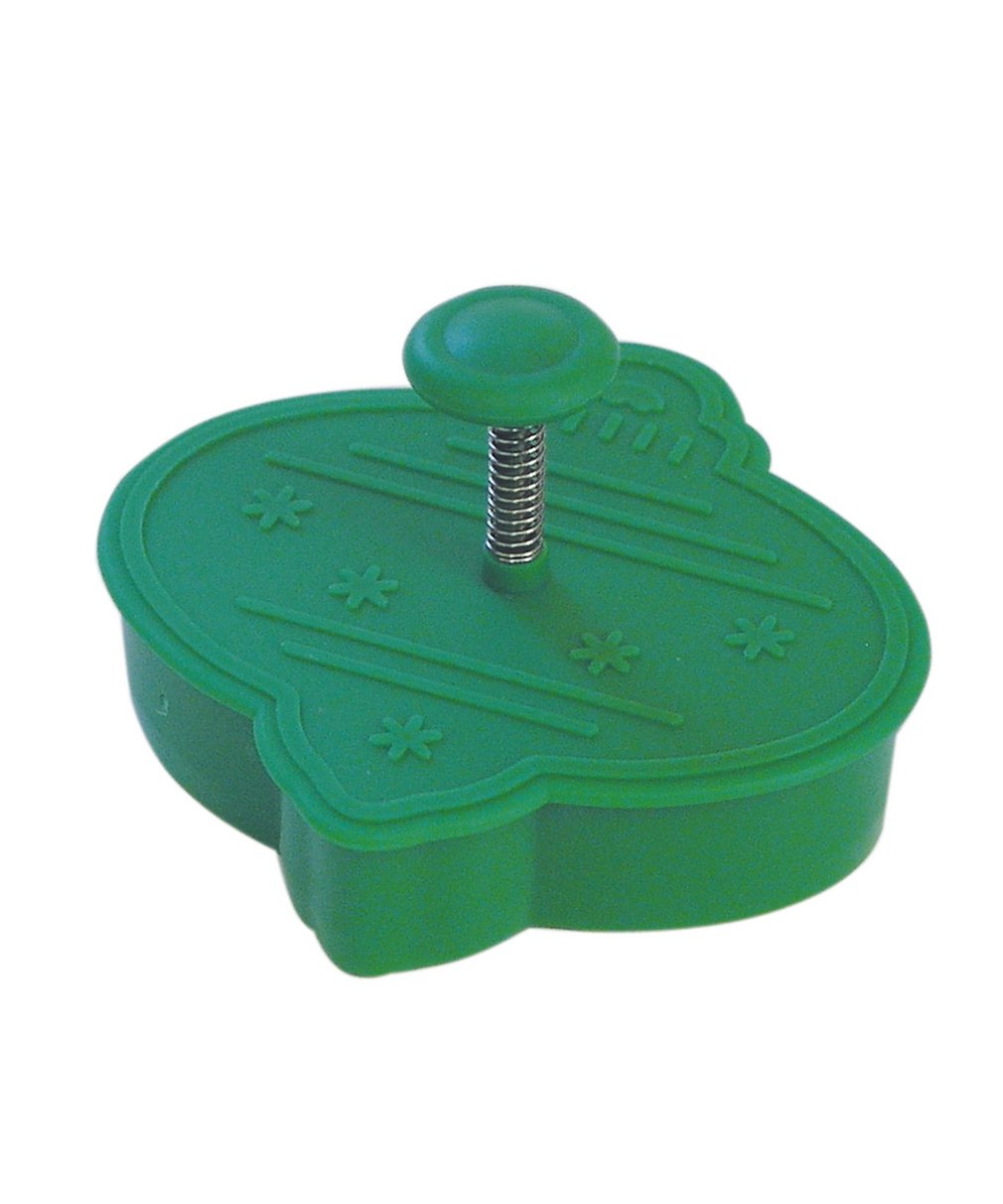 CybrTrayd RM-0404 R&M Ornament Cookie Stamper 2.75' One size Green