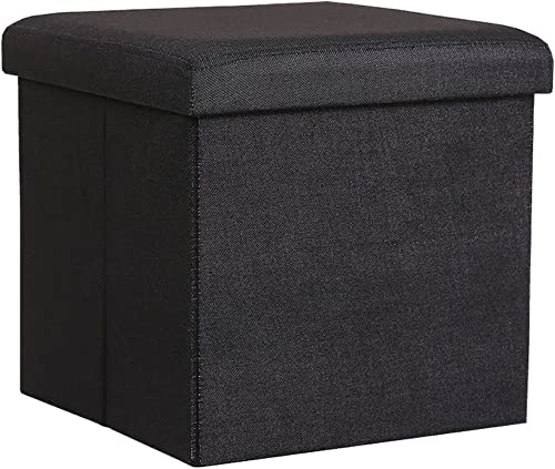InSassy Folding Storage Ottoman Bench Foot Rest Toy Box Hope Chest Linen-Like Fabric