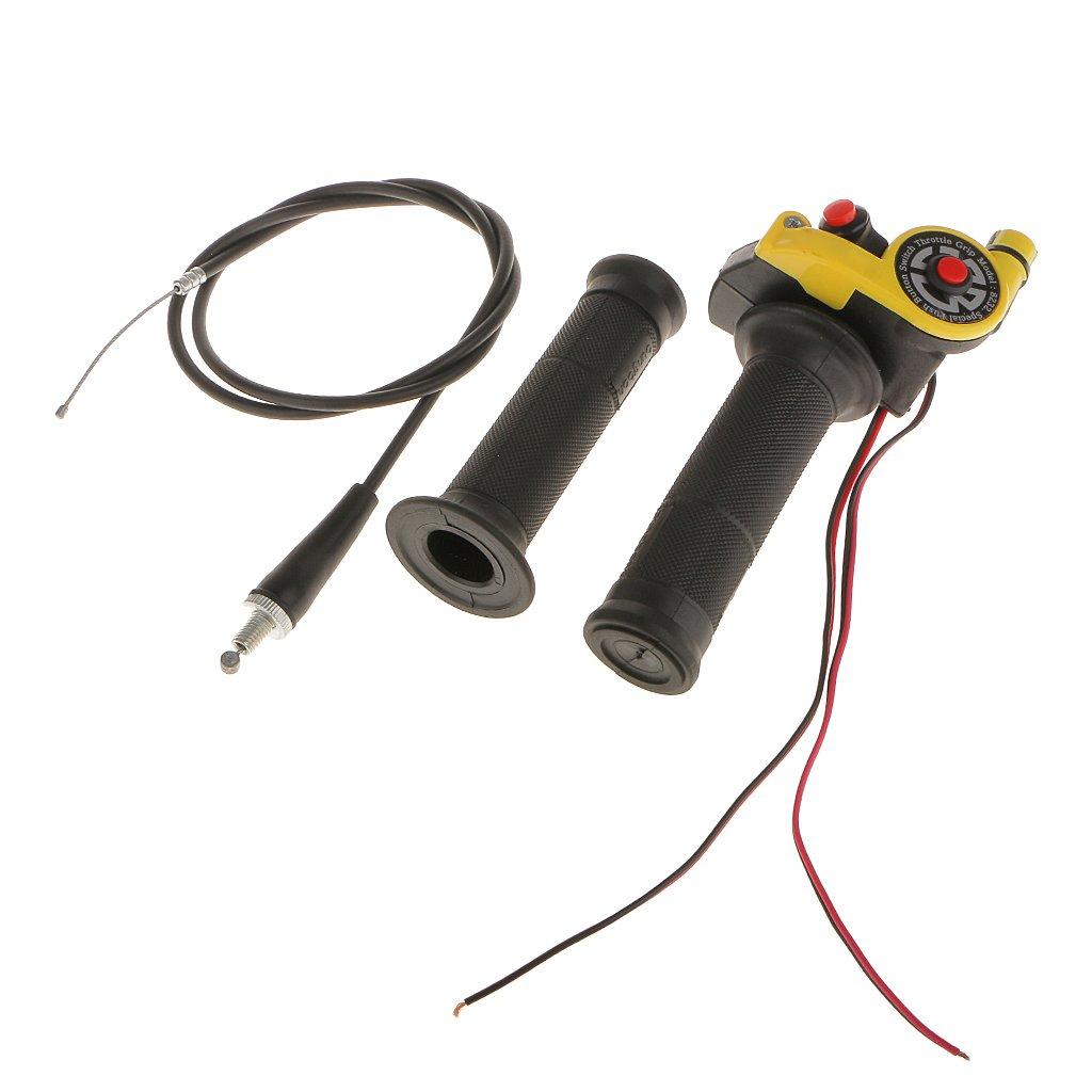 Puñ os de Manillar de Motocicleta Interruptor Control Acelerador Para Bici Suciedad ATV - Rojo Generic