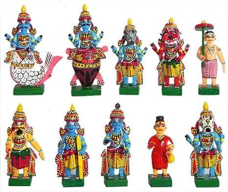 Buy Dollsofindia Wooden Kondapalli Dolls Online At Low Prices In