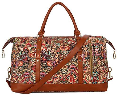 BAOSHA OVERSIZED HB-14 Travel Duffel Bag Carry on Weekender Overnight Bag For Women (Multicolour)