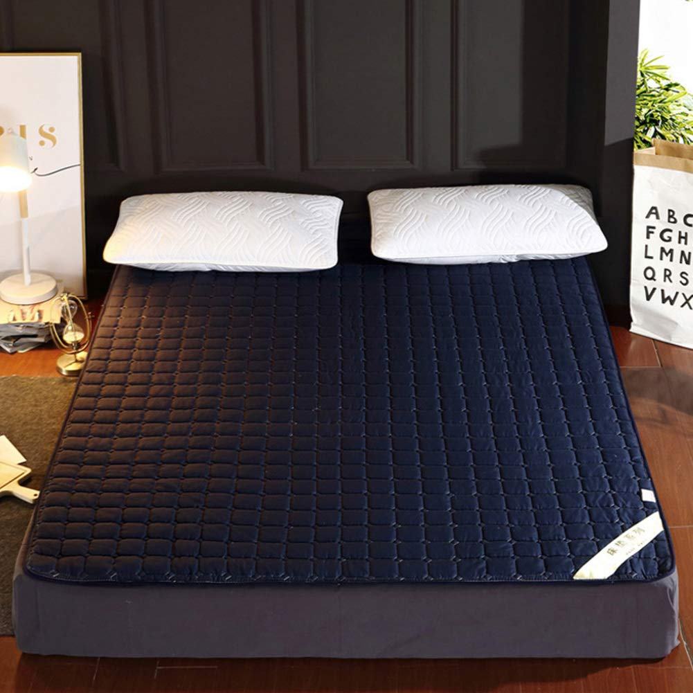 ALIPC Ultra-thin1cm Floor Mattress,Foldable Upholstered Bed Mattress Portable Non-Slip Mattress Thin and Flexible Futon Mat Mattress Topper-n 100x200cm(39x79inch) by ALIPC