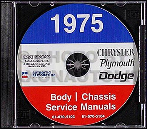 (1975 Chrysler, Dodge, & Plymouth CD-ROM Repair Shop Manual Original)