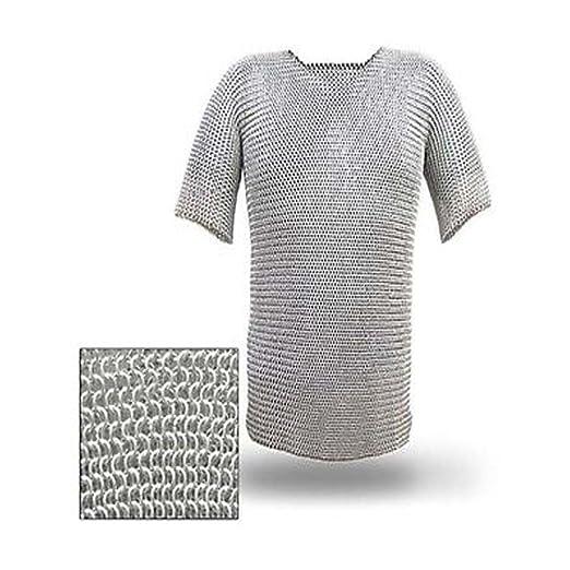 NASIR ALI Camisa de aluminio con cadena de aluminio para cosutme: Amazon.es: Deportes y aire libre