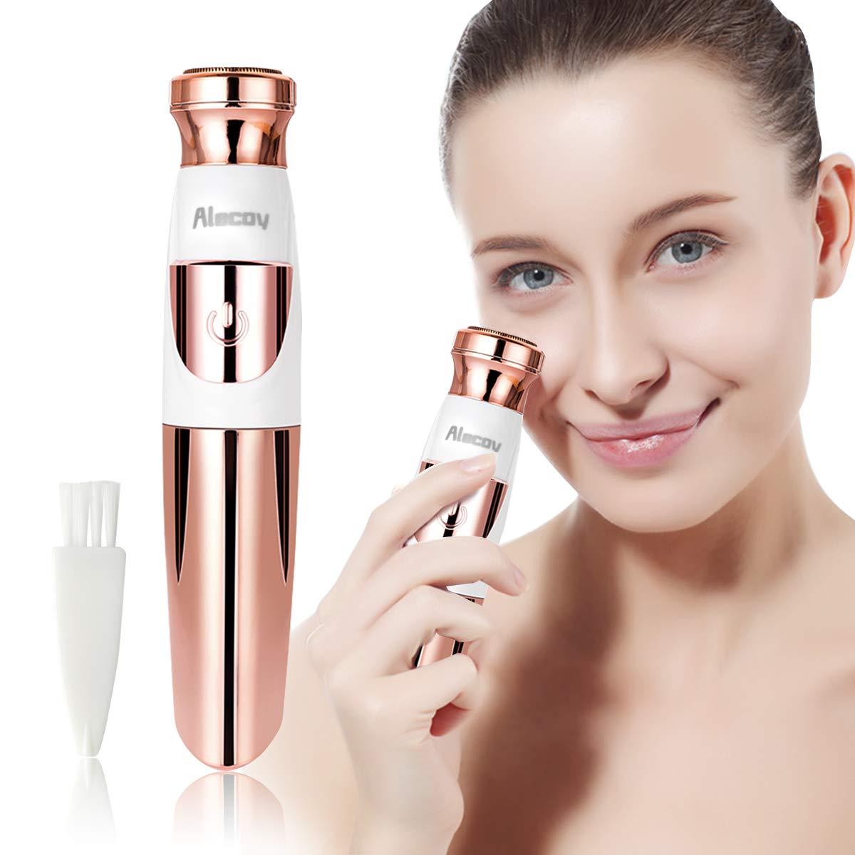 Lilizhou Women's Facial Hair Remover for Face Lip Armpit Chin Cheek Arm Leg and Full Body, Electric Facial Hair Removal For Women with Clean Brush
