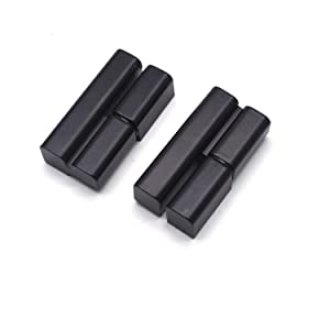 "Antrader 2.4"" x 1.3"" Closet Cabinet Furniture Door Offset Lift-Off Hinge Left and Right Hand Detachable Hinge Black"