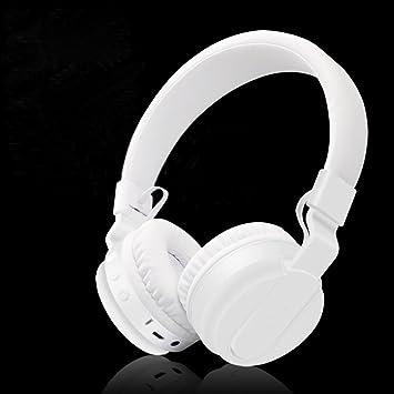 LQQAZY Auriculares Bluetooth Plegable Bajo Micrófono Música Teléfono Celular/TV / Computadora Auriculares Inalámbricos,