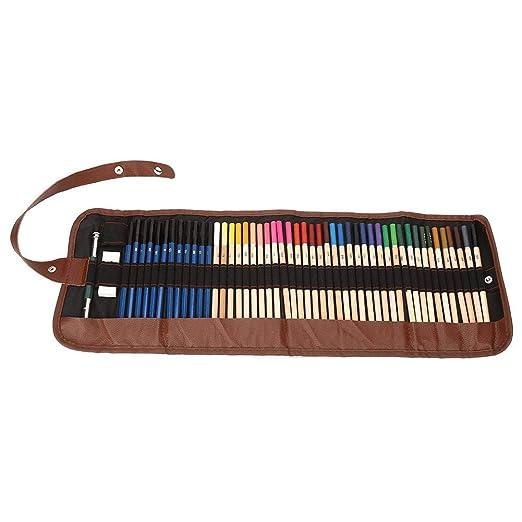 Juego de lápices de colores de 52 piezas con estuche de envoltura ...