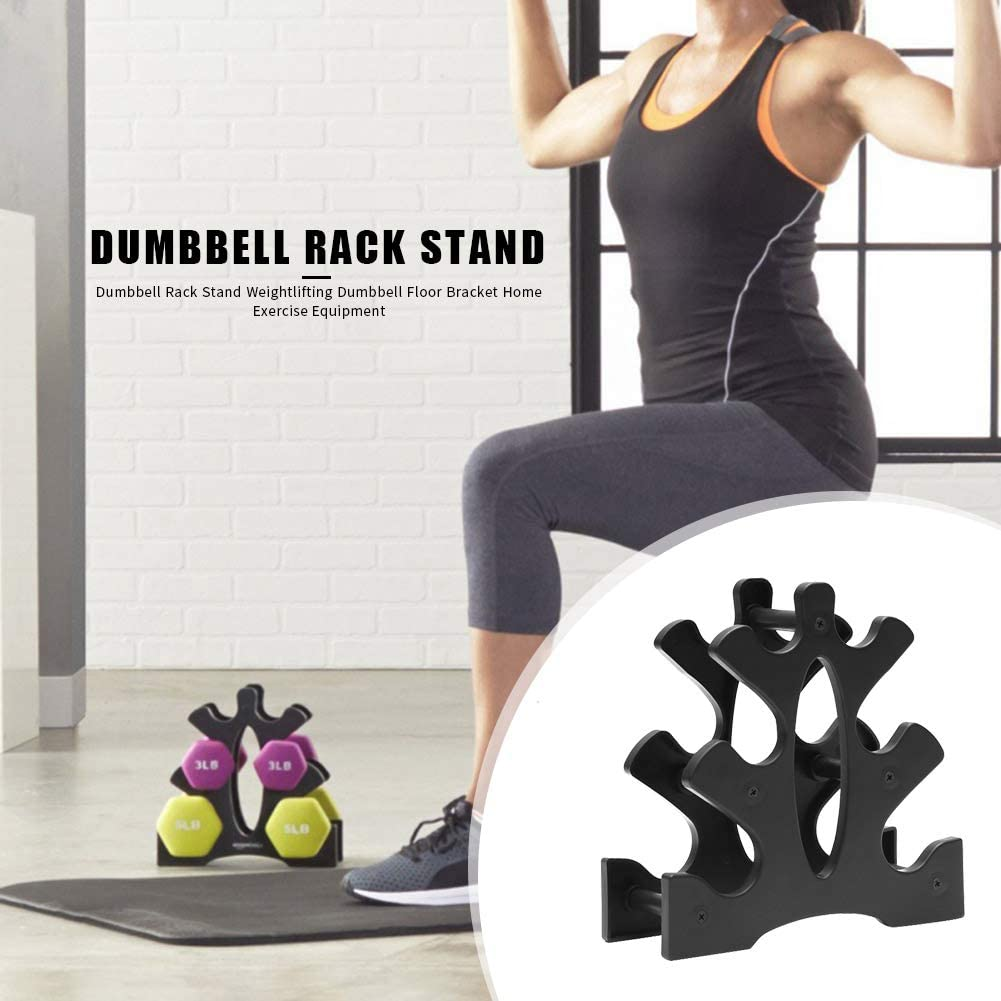 Wiixiong Mini Dumbbell Tree Rack Stand 3-Tier Weight Lifting Dumbbell Storage Holder Floor Bracket Home Exercise Fitness Tool