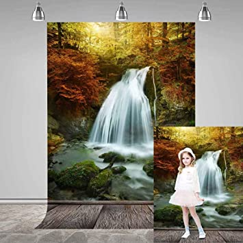 MEETS 7x5ft Natural Scenery Backdrop Small Town River Freshness Nature Photography Background Themed Party Photo Booth YouTube Backdrop GYMT164