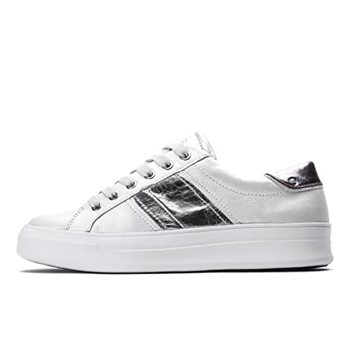 2416d6529b Crime London Sneakers Basse Donna Para Alta Banda Laterale Argento ...