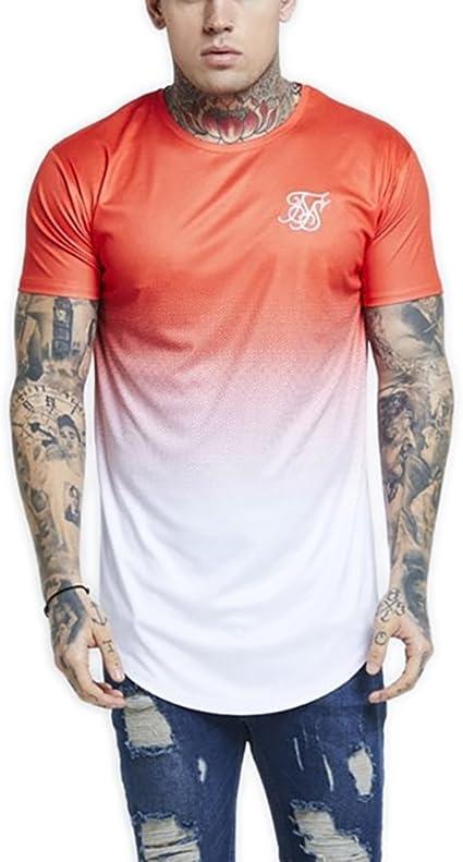 Sik Silk Neon Fade Camiseta Hombre Naranja XL (X-Large): Amazon.es: Ropa y accesorios