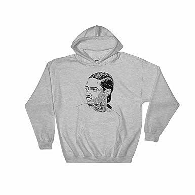 e61cab01 Amazon.com: Babes & Gents Nipsey Hussle Grey Hoodie Sweater (Unisex ...