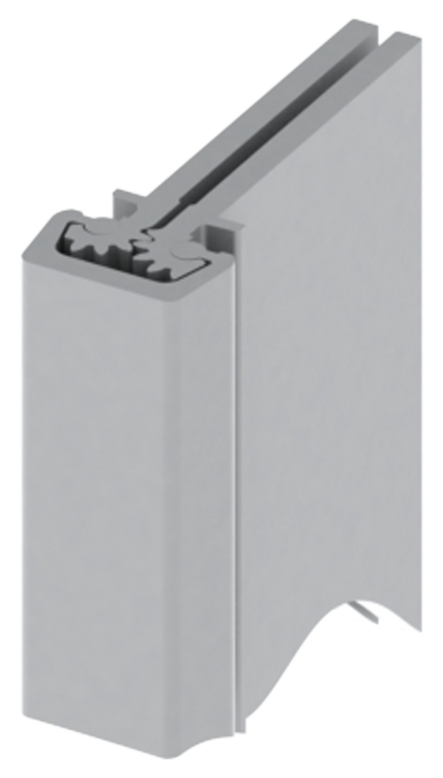 Hager 780-112 Series Aluminum Standard Duty Fire Rated Roton Continuous Geared Hinges, Concealed Leaf, Clear Anodized, 95'' Length (Pack of 1)