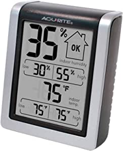 """AcuRite 00613 Digital Hygrometer & Indoor Thermometer Pre-Calibrated Humidity Gauge, 3"""" H x 2.5"""" W x 1.3"""" D"""