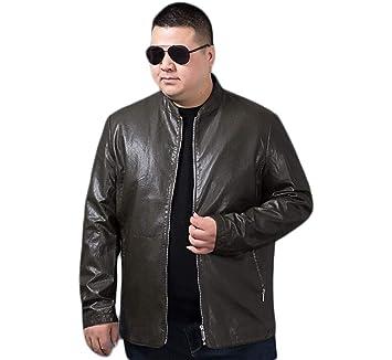 FEIYUESS Chaqueta de Cuero para Hombre Chaquetas de Cuero de imitación Vintage Moto Biker Coat Zip