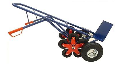 Carretilla, capacidad para 200kg, de acero, con 5 ruedas adicionales en
