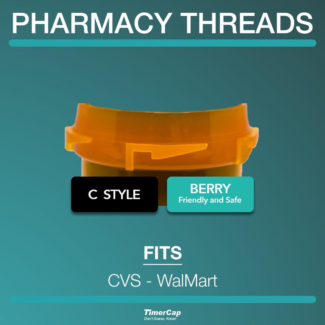 Amazon.com: Timer Caps for CVS & Wal-Mart PRESCRIPTION BOTTLES (Qty ...