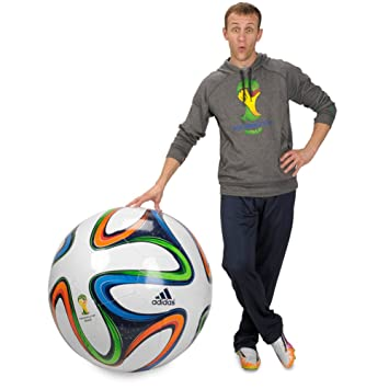 separation shoes 97b4d bdf75 Adidas Brazuca 2014 World Cup Jumbo Ball  Amazon.co.uk  Sports   Outdoors