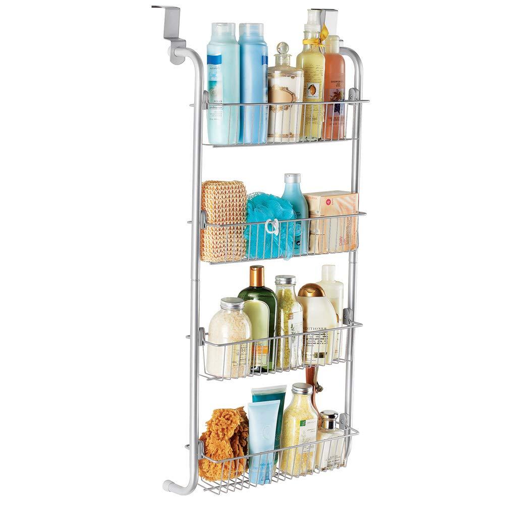 Over the Door Four-Tier Metal Shelf for Bathroom, Kitchen, Closet, Laundry room Winston Brands