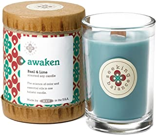 product image for Root Candles Seeking Balance Small Spa Candle, 6.5-Ounce, Awaken: Basil & Lime