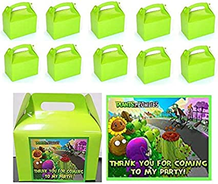 Game ON Party Favor Boxes Thank you Decals Stickers Loots Party Games 12 PC Boys